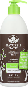 NATURES GATE: Body Lotion Coconut, 18 oz