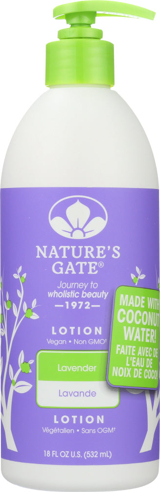 NATURES GATE: Body Lotion Lavender, 18 oz