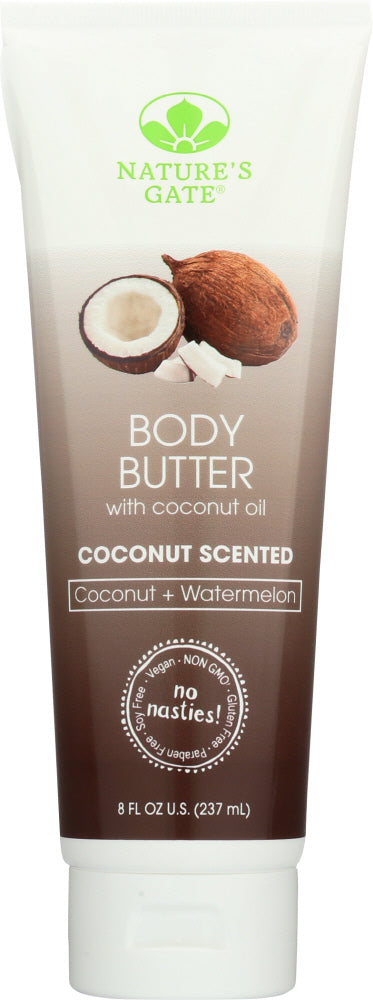 NATURES GATE: BODY BUTTER COCONUT (8.000 OZ)
