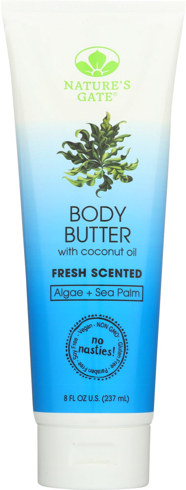 NATURES GATE: BODY BUTTER FRESH SCENT (8.000 OZ)