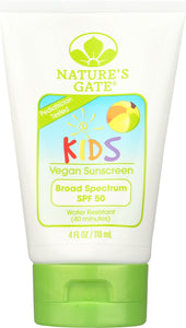 NATURES GATE: Kids Broad Spectrum SPF 50 Sunscreen, 4 oz