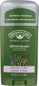 NATURES GATE: Herbal Blend Deodorant Stick Lavender & Aloe, 1.7 oz