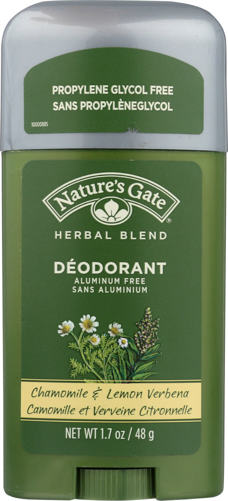 NATURES GATE: Herbal Blend Deodorant Stick Chamomile & Lemon Verbena, 1.7 oz