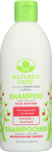 NATURES GATE: Hair Defense Shampoo Pomegranate + Sunflower, 18 oz