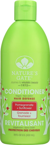 NATURES GATE: Hair Defense Conditioner Pomegranate + Sunflower, 18 oz