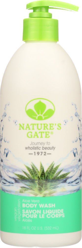 NATURES GATE: Body Wash Aloe Vera, 18 oz