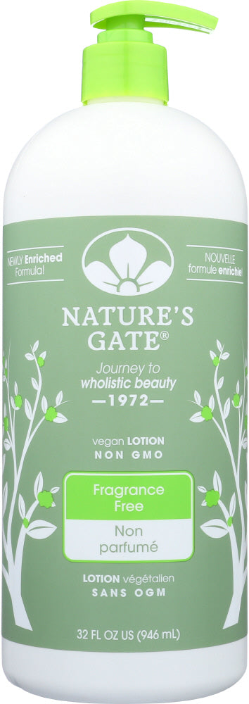 NATURES GATE: Fragrance Free Moisturizing Lotion, 32 Oz