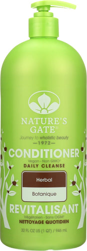 NATURES GATE: Daily Cleanse Herbal Conditioner, 32 Oz