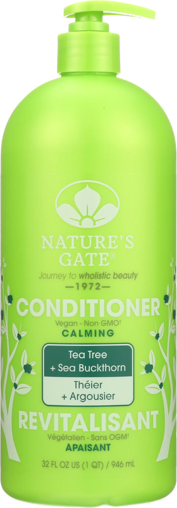 NATURES GATE: Calming Conditioner Tea Tree + Sea Buckthorn, 32 Oz