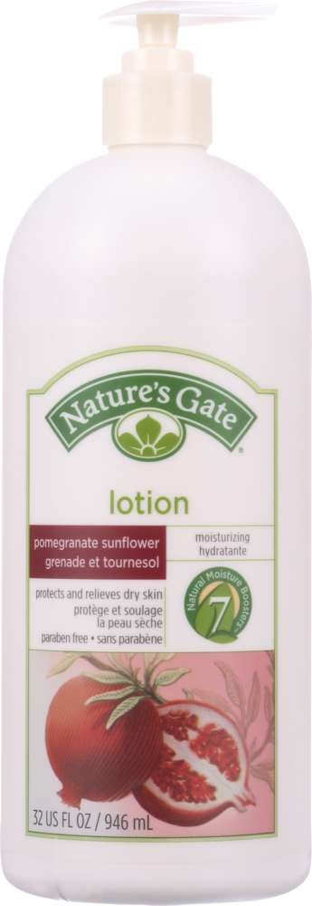 NATURES GATE: Lotion Pomegranate Sunflower, 32 oz