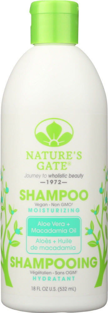 NATURES GATE: Moisturizing Shampoo Aloe Vera + Macadamia Oil, 18 oz