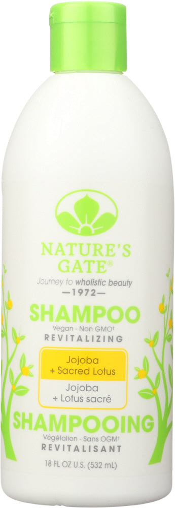 NATURES GATE: Revitalizing Shampoo Jojoba + Sacred Lotus, 18 oz