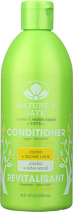 NATURES GATE: Revitalizing Conditioner Jojoba + Sacred Lotus, 18 oz