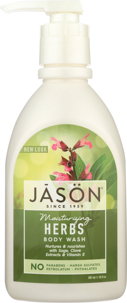 JASON: Body Wash Moisturizing Herbs, 30 oz