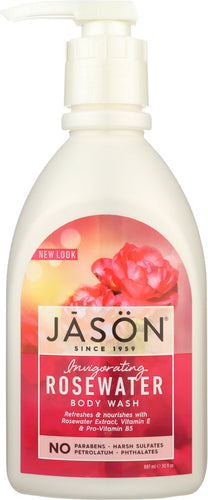JASON: Body Wash Invigorating Rosewater, 30 oz