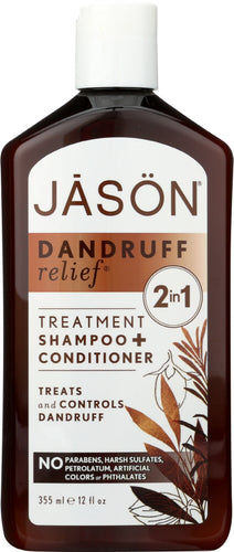 JASON: Dandruff Relief Shampoo + Conditioner, 12 oz