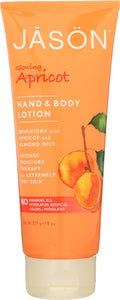 JASON: Hand & Body Lotion Glowing Apricot, 8 oz