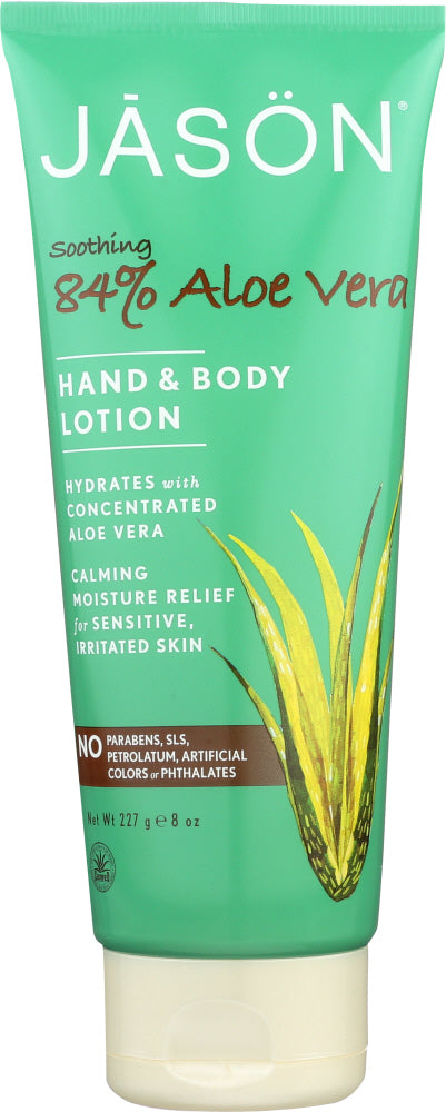 JASON: Hand & Body Lotion Soothing 84% Aloe Vera, 8 oz