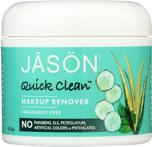 JASON: Quick Clean Makeup Remover Fragrance Free, 75 pads