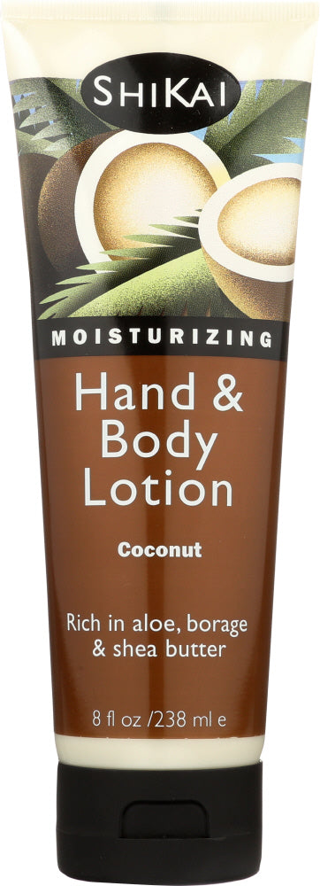 SHIKAI: All Natural Hand & Body Lotion Coconut, 8 oz
