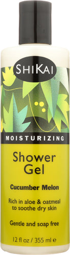 SHIKAI: All Natural Moisturizing Shower Gel Cucumber Melon, 12 oz