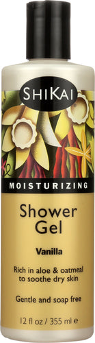 SHIKAI: All Natural Moisturizing Shower Gel Vanilla, 12 Oz