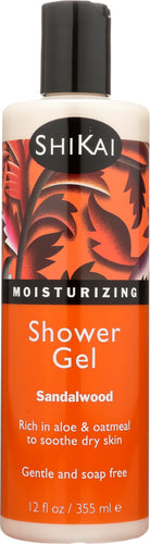SHIKAI: All Natural Moisturizing Shower Gel Sandalwood, 12 Oz