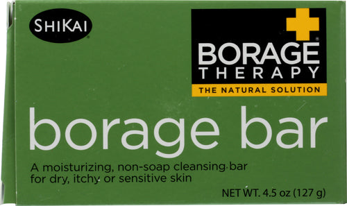 SHIKAI PRODUCTS: Borage Therapy Non-soap Cleansing Bar, 4.5 oz