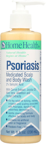 HOME HEALTH: Psoriasis Medicated Scalp and Body Wash, 8 Oz