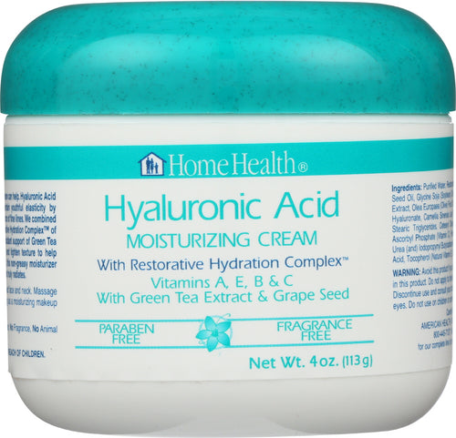 HOME HEALTH: Hyaluronic Acid Moisturizing Cream, 4 oz