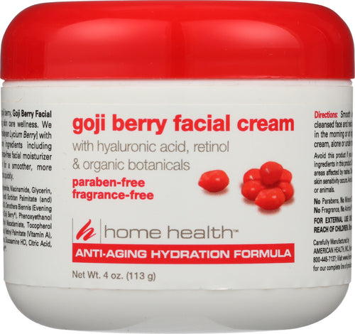 HOME HEALTH: Goji Berry Fragrance Free Facial Cream, 4 oz