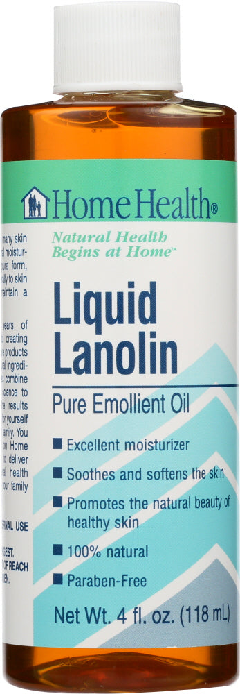 HOME HEALTH: Liquid Lanolin Pure Emollient Oil, 4 Oz