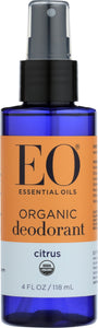 EO PRODUCTS: Organic Deodorant Spray Citrus, 4 Oz