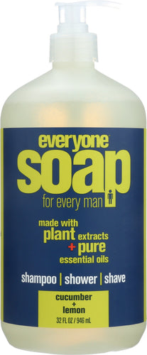EO PRODUCTS: Everyone for Men 3-in-1 Cucumber + Lemon Soap, 32 oz