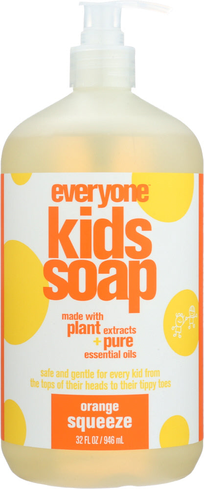 EO PRODUCTS: Everyone for Kids 3-in-1 Orange Squeeze Soap, 32 oz