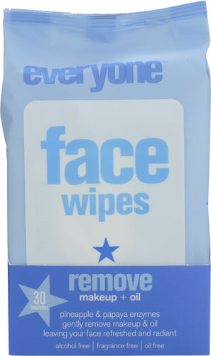 EVERYONE: Face Make-Up Removing Wipes, 30 Count