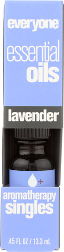EVERYONE: Aromatherapy Singles Essential Oil Lavender, 0.45 oz