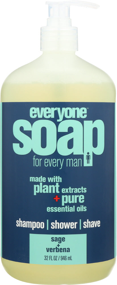 EVERYONE: Men's Soap Lemon Verbena Sage, 32 oz