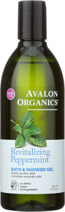 AVALON ORGANICS: Bath & Shower Gel Peppermint, 12 oz