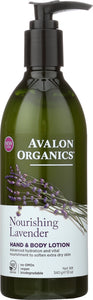 AVALON ORGANICS: Hand & Body Lotion Lavender, 12 oz
