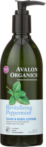 AVALON ORGANICS: Hand & Body Lotion Peppermint, 12 oz