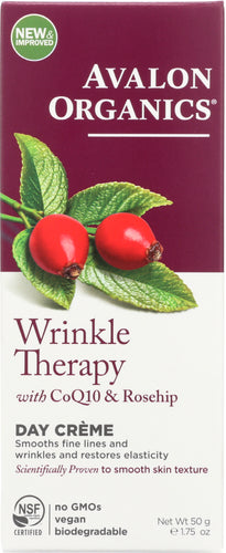 AVALON ORGANICS: Wrinkle Therapy with CoQ10 & Rosehip Day Creme, 1.75 oz