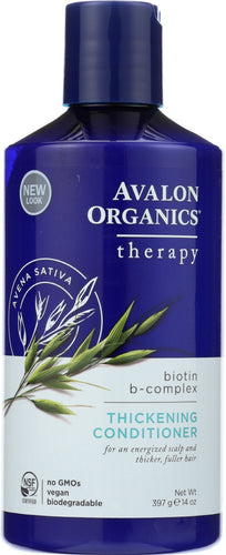 AVALON ORGANICS: Thickening Conditioner Biotin B-Complex Therapy, 14 oz