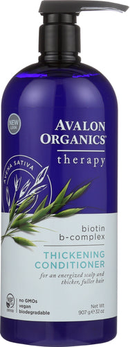 AVALON ORGANICS: Thickening Conditioner Biotin B-Complex Therapy, Paraben Free, 32 oz