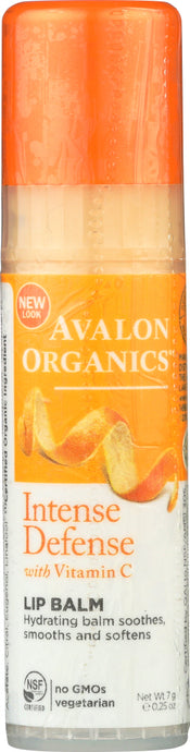 AVALON ORGANICS: Intense Defense Vitamin C Soothing Lip Balm, 0.25 oz