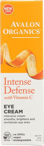 AVALON ORGANICS: Intense Defense Vitamin C Renewal Revitalizing Eye Cream, 1 oz