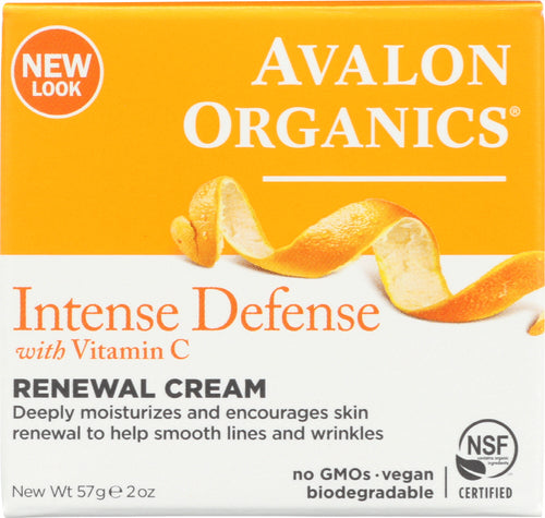 AVALON ORGANICS: Intense Defense Vitamin C Renewal Cream, 2 oz