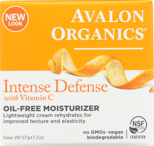 AVALON ORGANICS: Intense Defense Vitamin C Renewal Rejuvenating Oil-Free Moisturizer, 2 oz