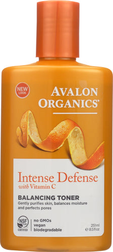 AVALON ORGANICS: Intense Defense Vitamin C Balancing Toner, 8.5 oz