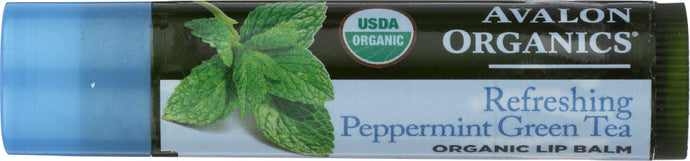 AVALON ORGANICS: Lip Balm Green Tea Peppermint, 0.15 oz